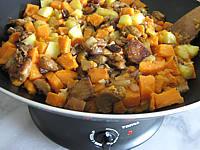 Pommes de terre et patates douces aux cèpes