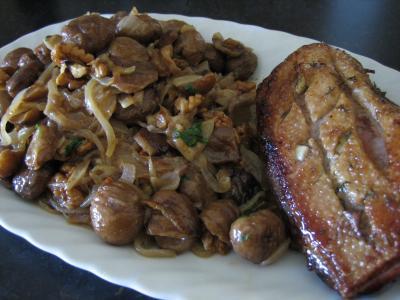 Photo : Magret de canard aux châtaignes
