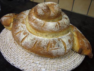Image : Pâte levée - Pain escargot