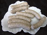 saucisses de nuremberg