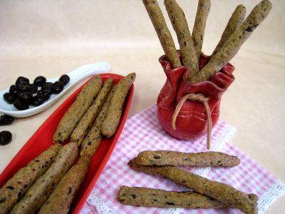 Image : recette Gressins aux olives et à l'emmental