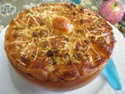 Image : recette Velouté de cèpes à la landaise et son béret