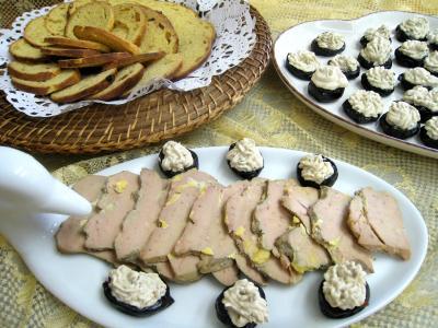 Recette Assiette de foie gras aux pruneaux