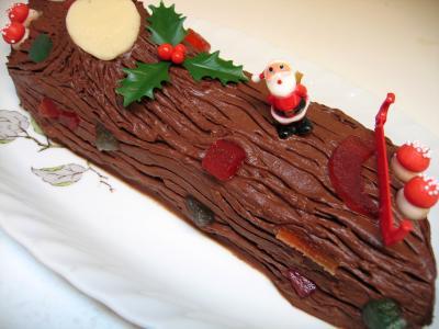 Image : Bûche de Noël - Bûche de noël au chocolat