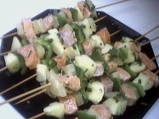 Brochettes de saumon à l'ananas - 7.1