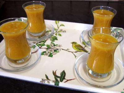 Image : recette Boisson à la mangue et au gingembre