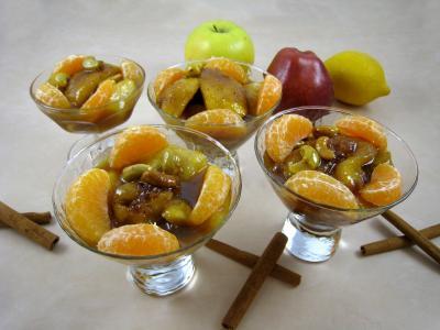 Recette Coupes de pommes et poires caramélisées