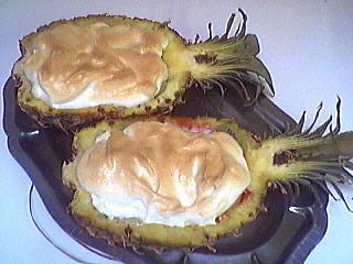 ananas : Ananas farci et meringué