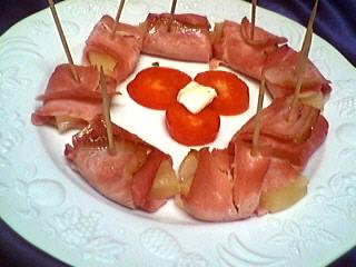 ananas au jambon