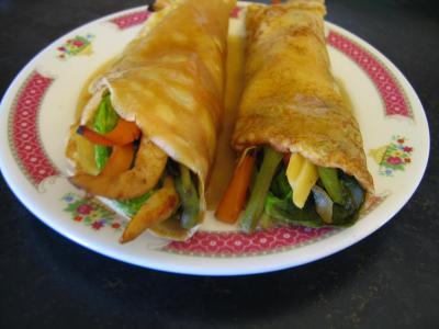 Image : recette Crêpes chinoises aux légumes