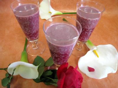 Recette Verres de cocktail de crème de mûres à l'armagnac