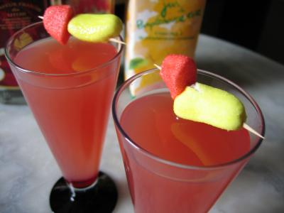 cocktail de liqueur de litchies