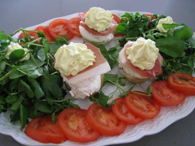 sauce mayonnaise : Plateau de crudités et artichauts chantilly
