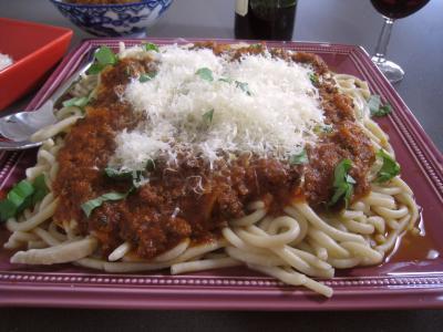 Image : Pâtes spaghettis à la bolognaise
