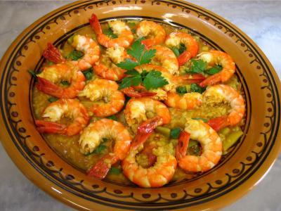 Image : recette Gambas aux épices façon orientale