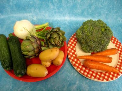 Image : Régime hypocalorique pour maigrir - Légumes frais à cuire à la vapeur