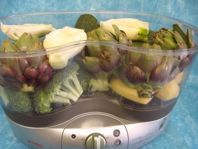Image : Cuisine vapeur et cuisine à l'eau - Légumes à la vapeur