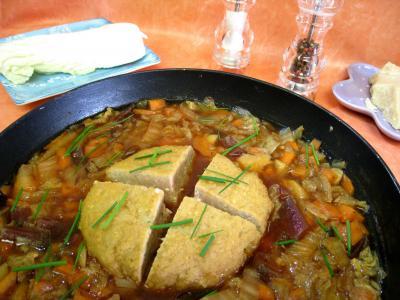 Filet de porc : Potage chou chinois et sa boulette de porc