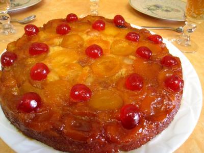 gâteau fruits : Quatre-quart aux abricots et aux cerises