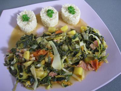Image : Brèdes - Brèdes cresson et mangue à la mauricienne