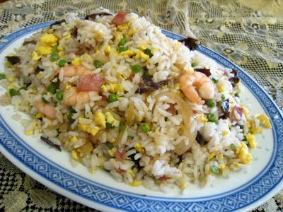 Cuisine mauricienne : Assiette de riz cantonais