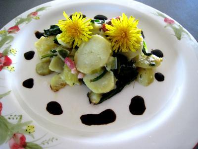 Recette Salade de pissenlits au lard à l'ardennaise