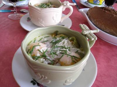 Image : Bol de sauté de légumes et ses oeufs au bain-marie
