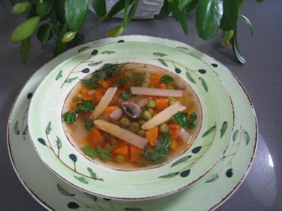 Minestrone aux asperges