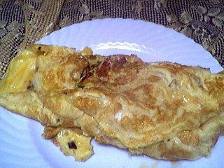 Image : Assiette d'omelette d'ognasses à la landaise