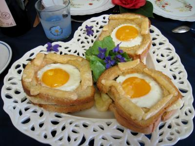Recette Tartines  l&#39;oeuf et au gruyre