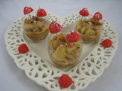 verrine de poires aux noix de cajou