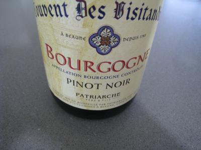 Image : Couvent des visitandines rouge - Bouteille de vin rouge du couvent des visitandines