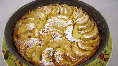 Image : Flamusse ou flan aux pommes façon bourguigonne