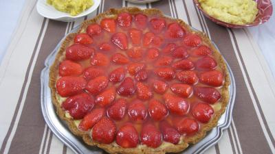 pâte sucrée : Tarte aux fraises