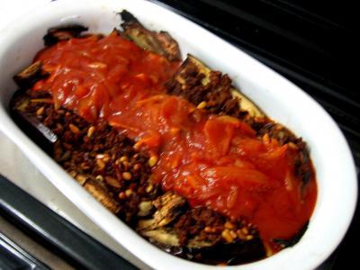 Image : Cuisine orientale - Aubergines farcies à la libanaise