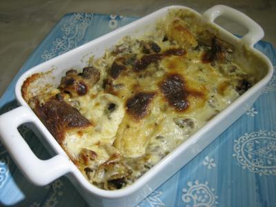 Cuisine auvergnate : Cassolettes de gnocchis à la fourme d'Ambert auu parfum d'Auvergne