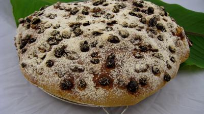 Image : recette Pain de Gallu aux noix, raisins secs et dattes