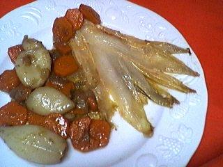 encornet : Blancs d'encornets aux carottes