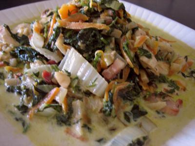 Image : recette Blancs de poulet aux fanes de carottes