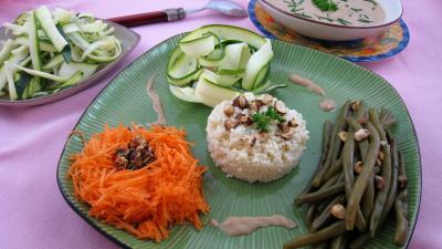 Recette Assiette de salade de haricots verts aux noisettes