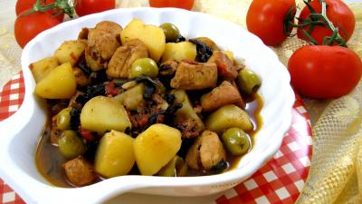 Image : Cuisine corse - Blancs de poulet faon Corse