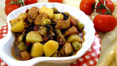Image : Cuisine corse - Blancs de poulet façon Corse