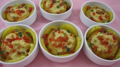 Image : Cassolettes de baba à l'ananas
