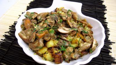 Image : Saladier de cèpes aux pommes de terre à la landaise
