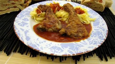 paner : Assiette de côtes d'agneau panées