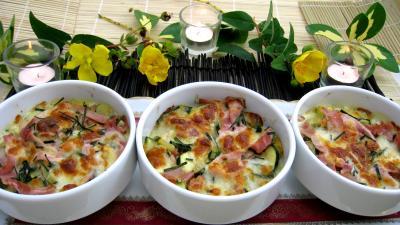 blé : Cassolettes de blé aux courgettes