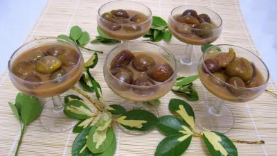 caramel : Verrines de poêlée de figues au caramel