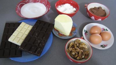 Ingrédients pour réaliser des brownies au chocolat blanc