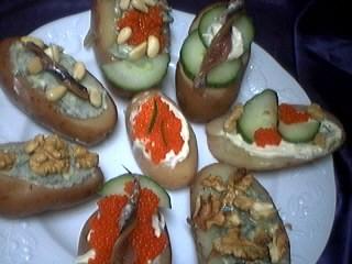 canapés aux pommes de terre