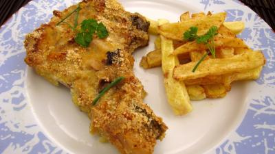 paner : Assiette de côtes de porc panées